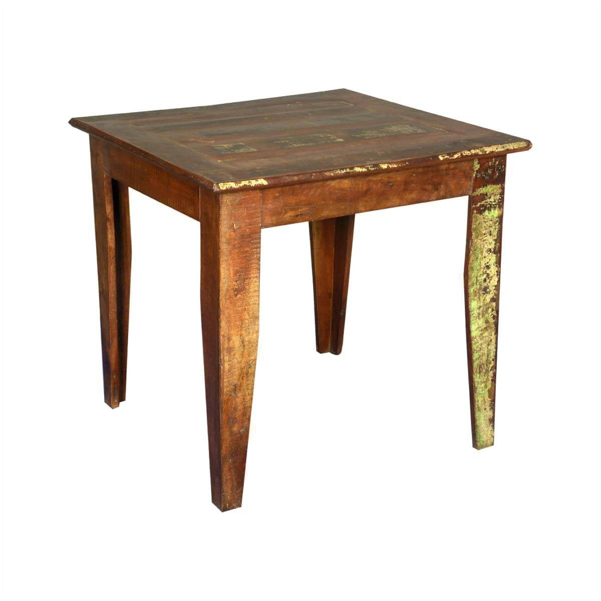 home cariboo 32 square reclaimed wood kitchen dinette table