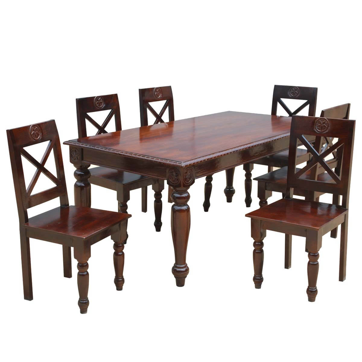 texas rustic dining table and chairs set. Black Bedroom Furniture Sets. Home Design Ideas