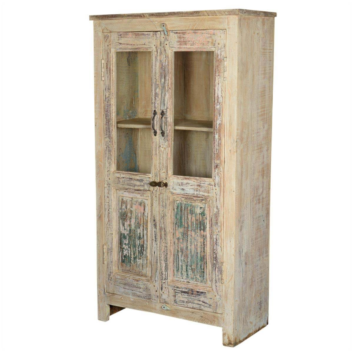 Marvelous photograph of Door Reclaimed Wood Tall Storage Cabinet with #AB7620 color and 1200x1200 pixels