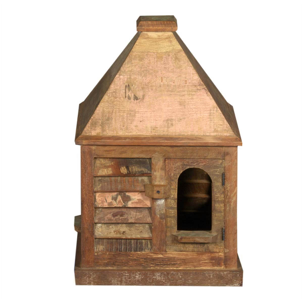 rustic log cabin birdhouses - photo #10