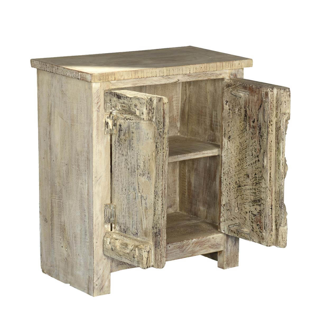 Reclaimed Wood Cabinets ~ Fleming winter reclaimed wood accent storage cabinet