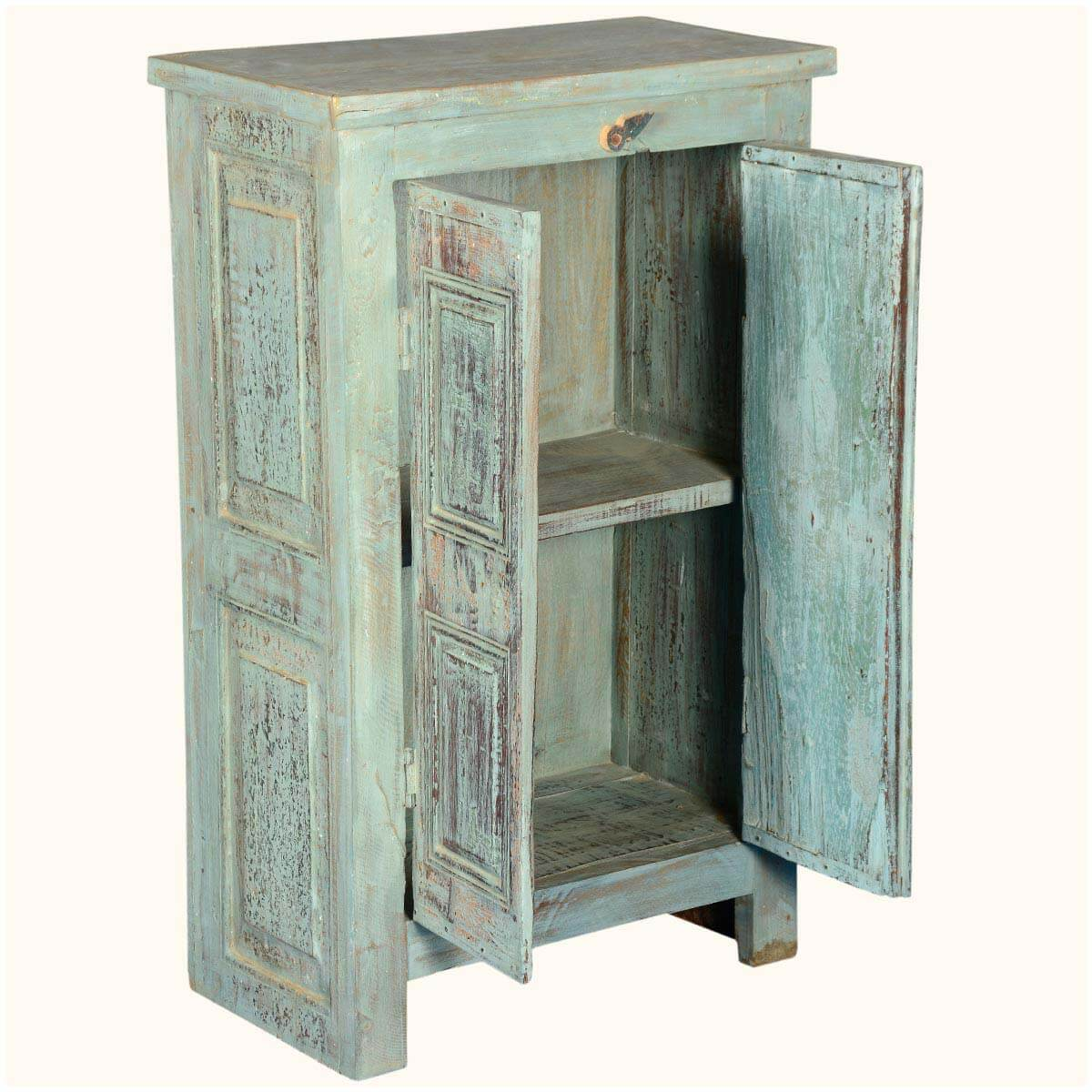 rustic reclaimed wood nottingham 2 door small storage cabinet. Black Bedroom Furniture Sets. Home Design Ideas