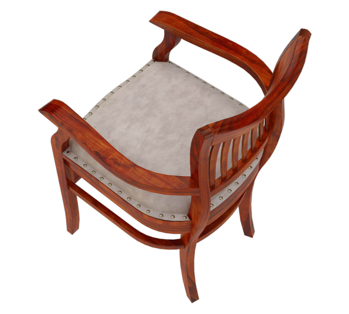 Solid wood arm chair leather cushion dining furniture for Leather dining chairs with arms