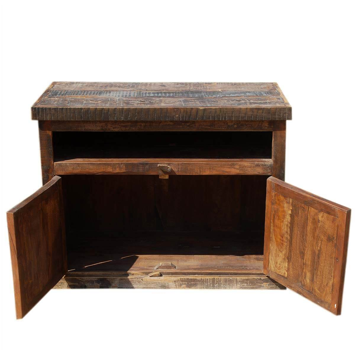 Whitney Reclaimed Wood Media Console Tv Stand Rustic Furniture