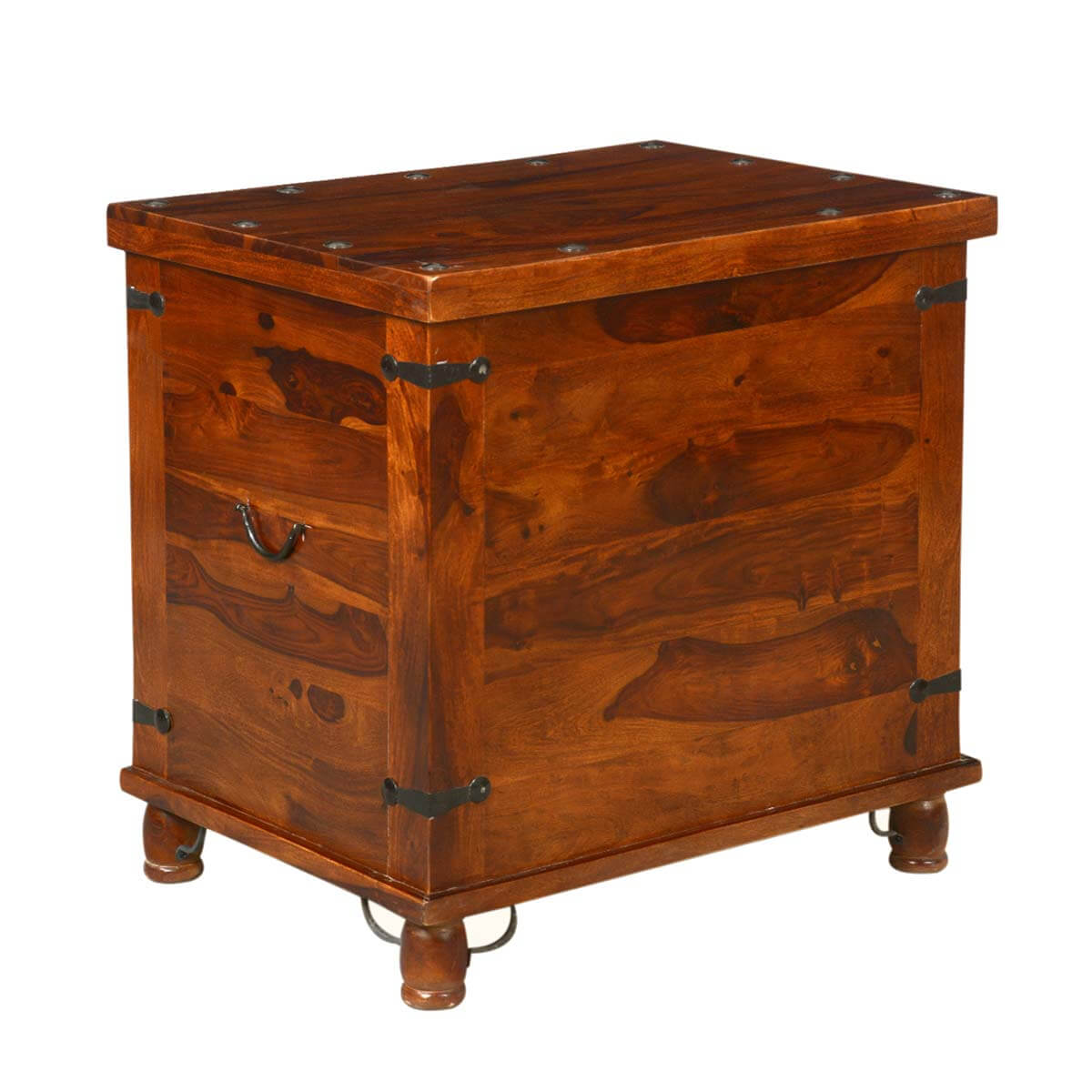 Kokanee Rustic Storage Trunk Box Side End Table