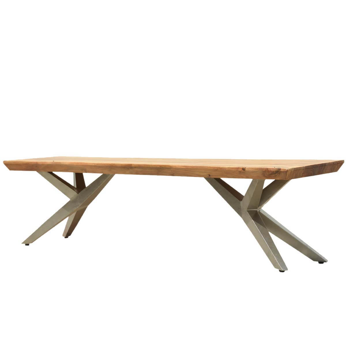 Modern Wood Bench : ... Room Dining Benches Rustic Contemporary Acacia Wood Airloft Bench