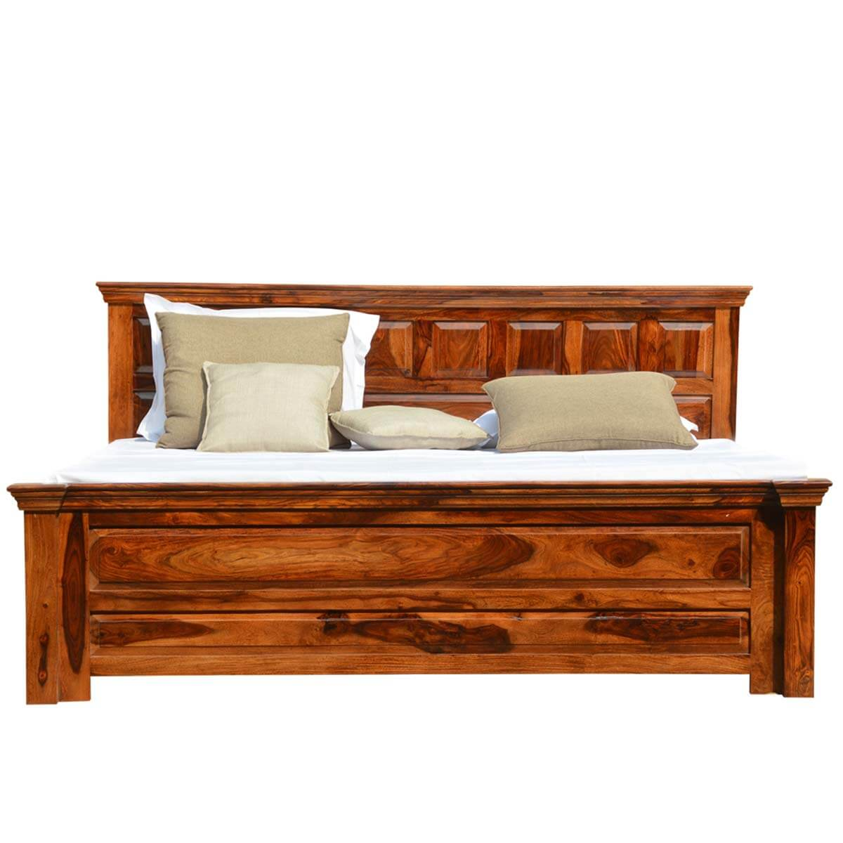 California king sized bed with storage drawer made of solid wood - Cal king bed with drawers ...