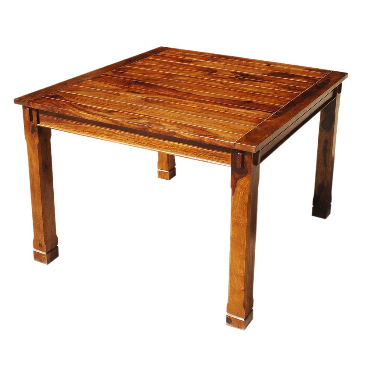 Rustic solid wood square counter height dining table for Tall dining table