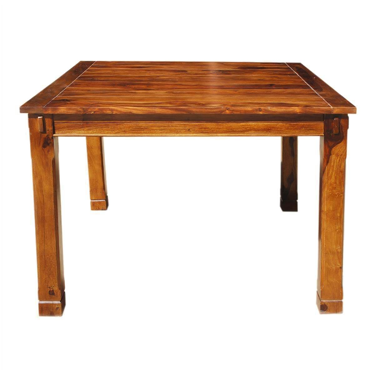 Rustic solid wood square counter height dining table for Rustic dining table