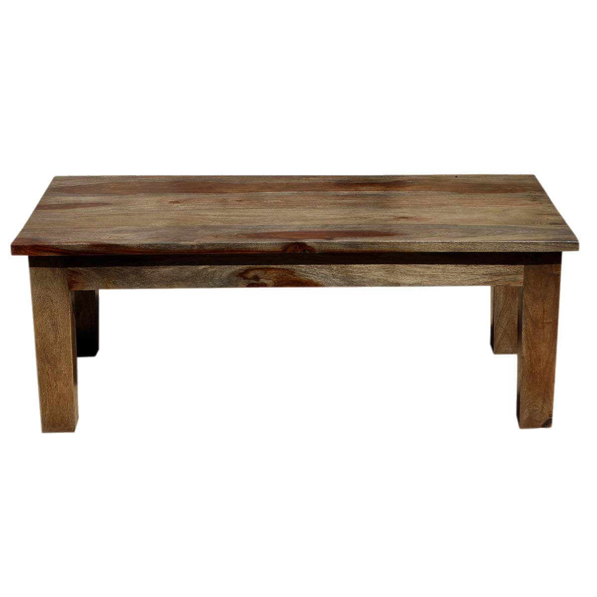 Santa fe simple solid indian rosewood coffee table for Indian coffee table