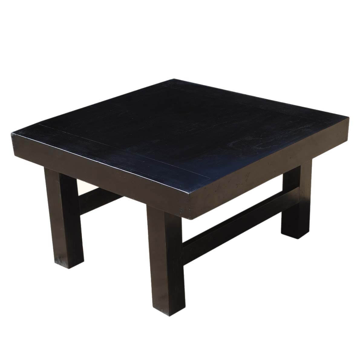 Kansas City Contemporary Indian Rosewood 32 Black Square Coffee Table