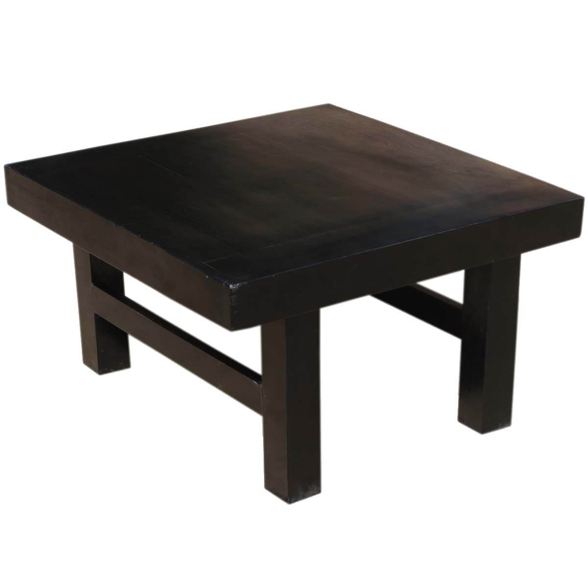 "Square Coffee Table: Kansas City Contemporary Indian Rosewood 32"" Black Square"