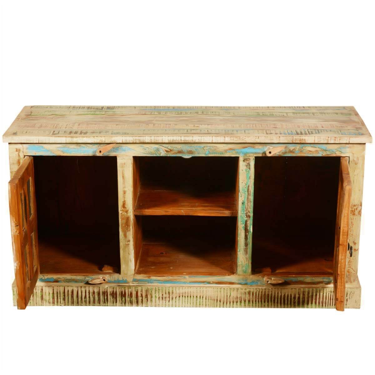 Rainbow Windows Rustic Reclaimed Wood 47 Tv Stand Media