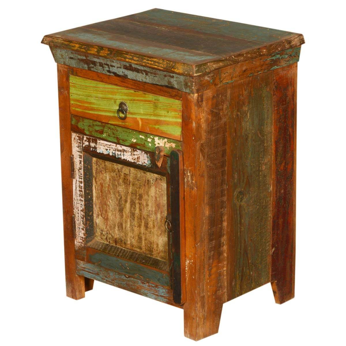Wood Night Stand ~ New memories rustic reclaimed wood night stand end table