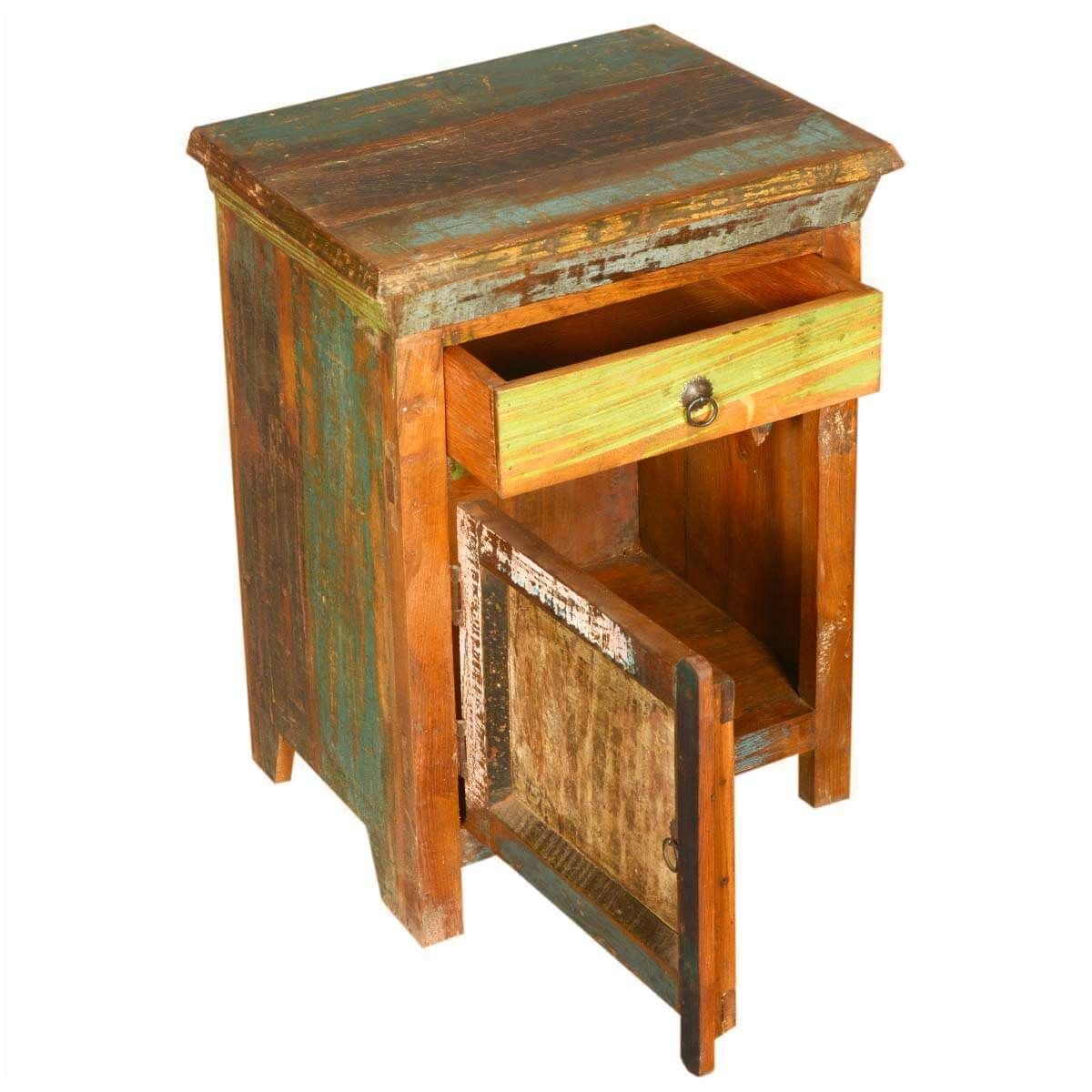 New Memories Rustic Reclaimed Wood Night Stand End Table