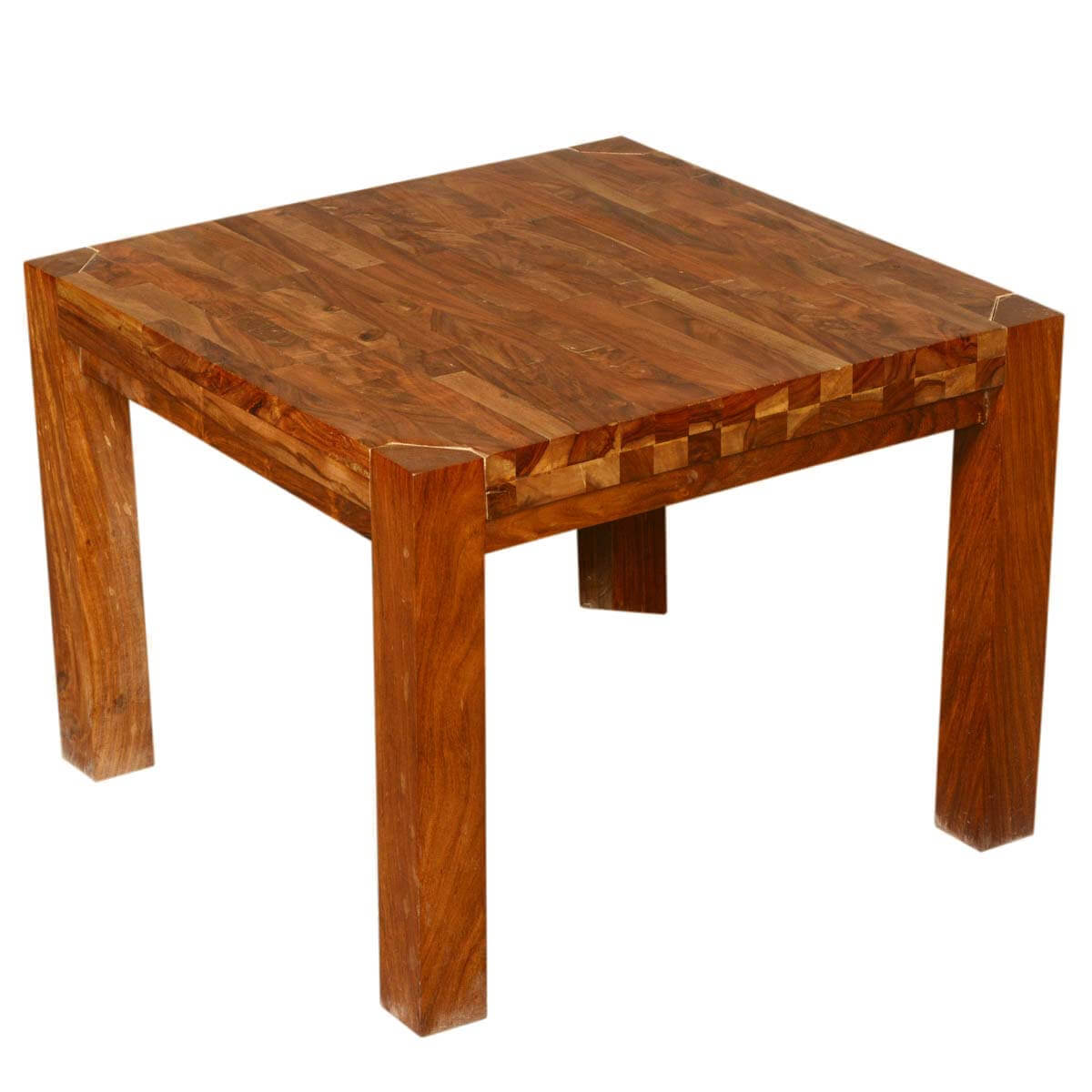 Reclaimed Wood End Tables ~ Princeton reclaimed wood square accent end table