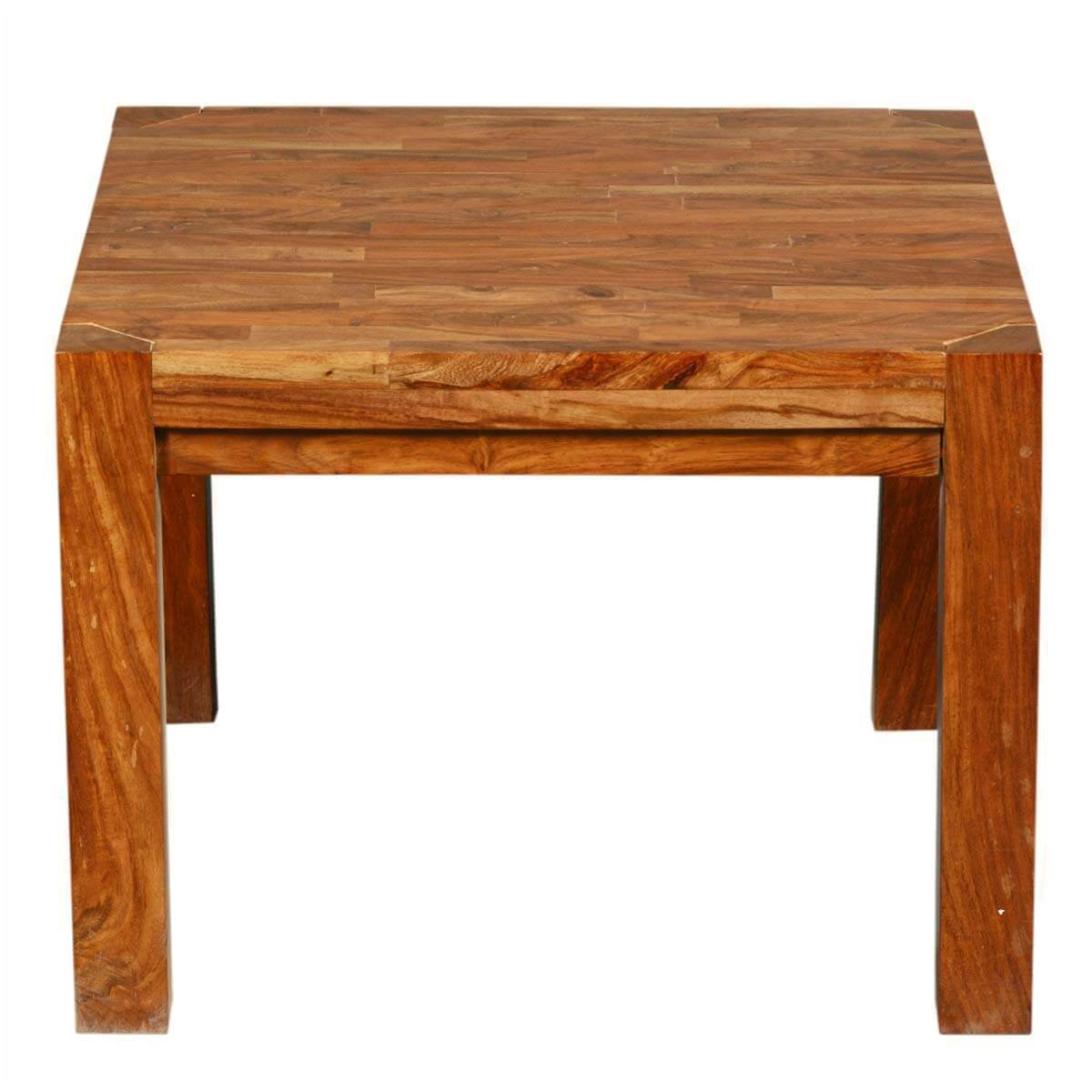Princeton reclaimed wood square accent end table