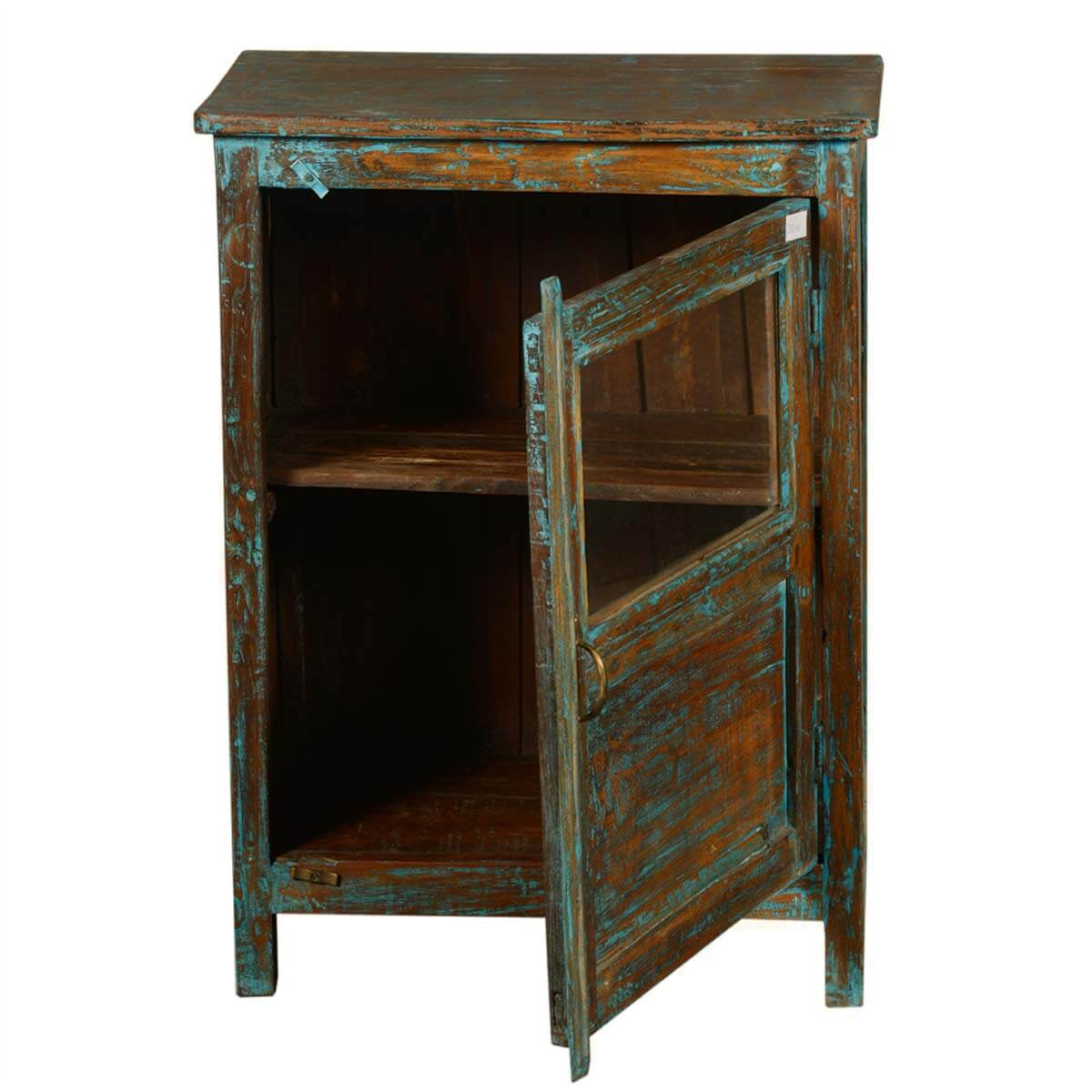 New memories reclaimed wood night stand end table cabinet