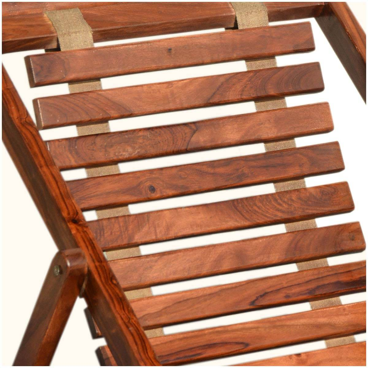 Flexible Seat Solid Wood Adjustable Lounge Chair