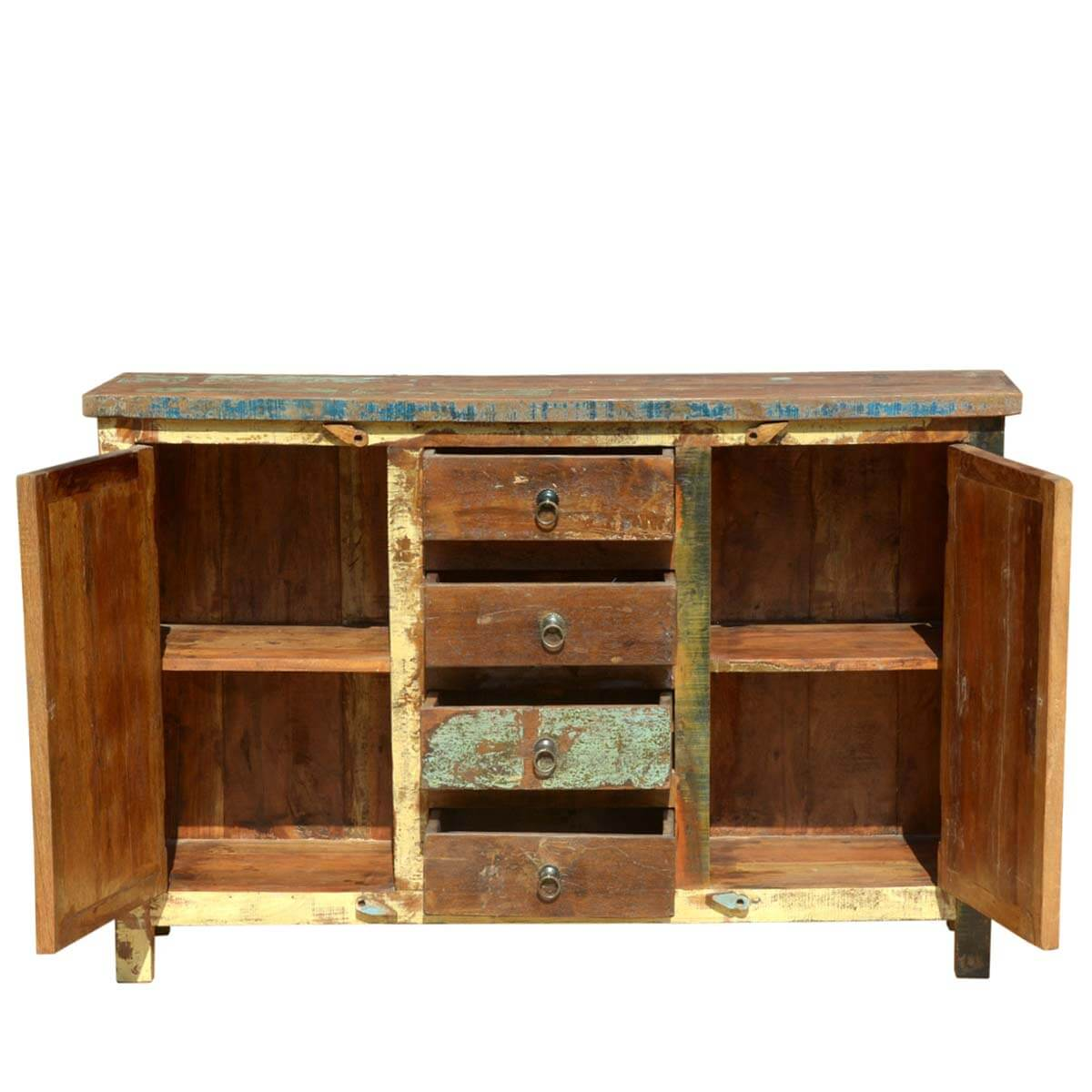Reclaimed Wooden Mosaic Rustic Sideboard Buffet Cabinet : 55982 from sierralivingconcepts.com size 1200 x 1200 jpeg 115kB