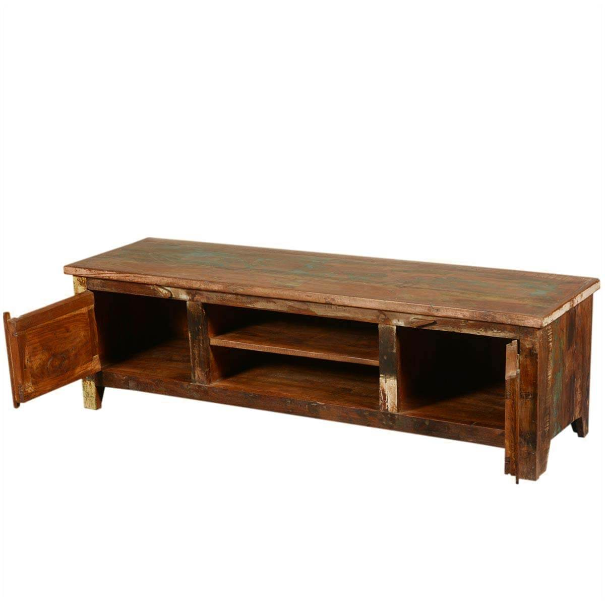 new memories reclaimed wood 59 rustic media console