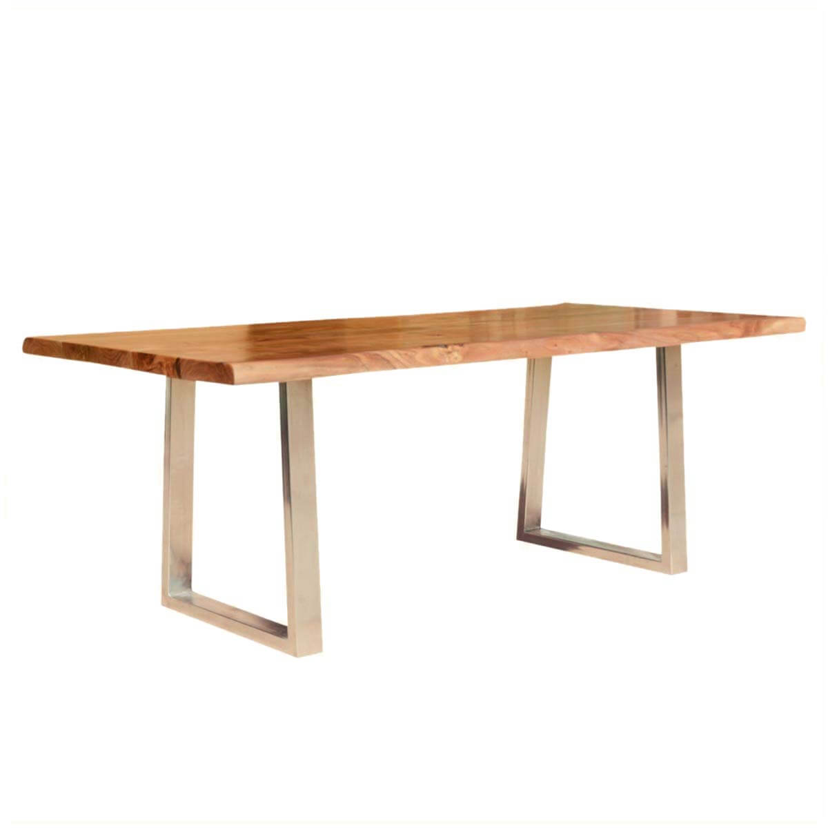 Modern live edge dining table rustic solid wood for Contemporary wood dining table