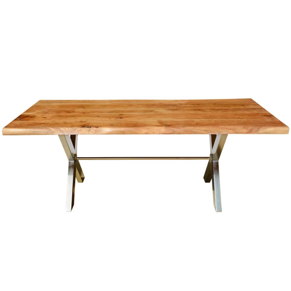 Industrial Cross Legs Solid Wood Live Edge Dining Table : 56071 from www.sierralivingconcepts.com size 1200 x 1200 jpeg 59kB