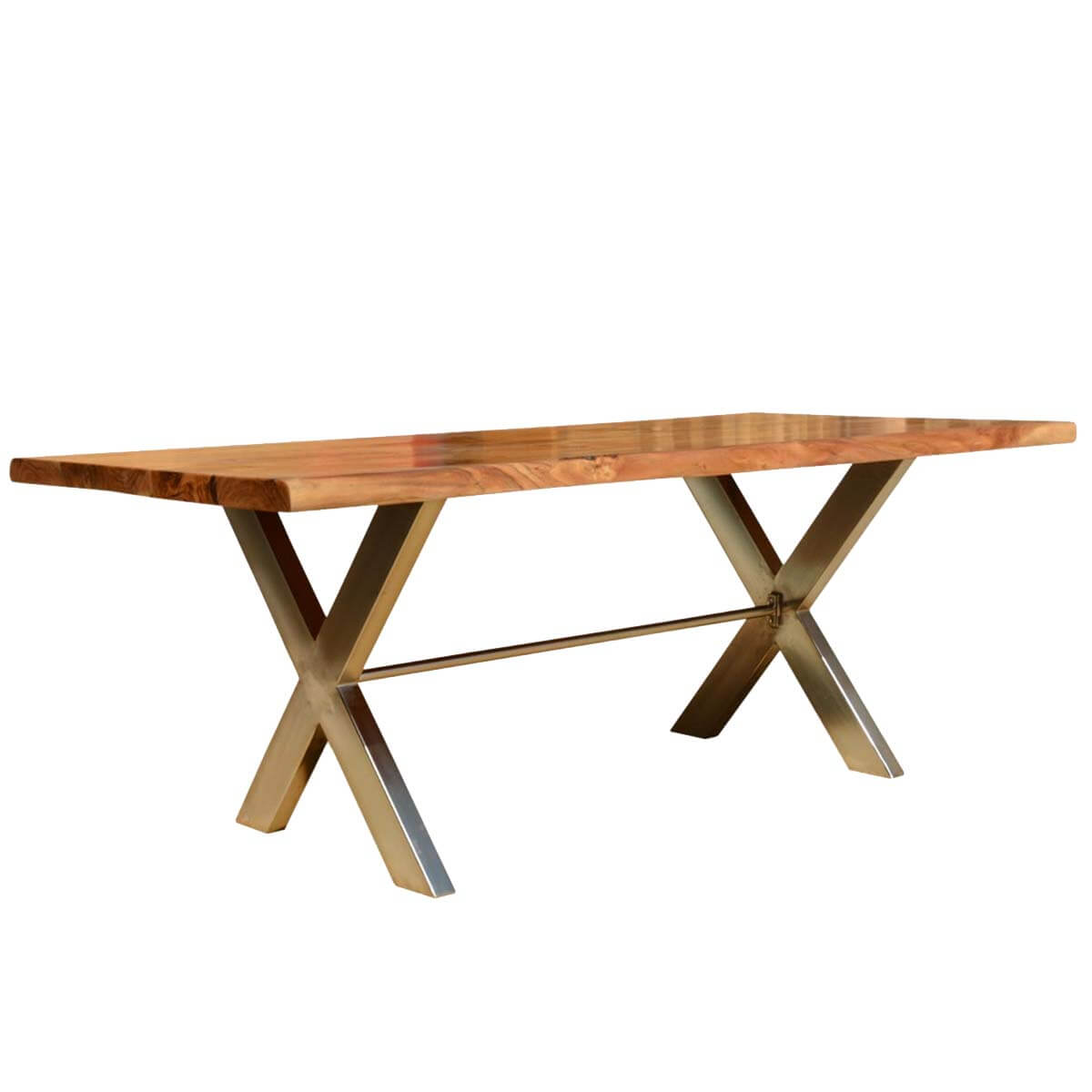 Industrial Cross Legs Solid Wood Live Edge Dining Table : 56072 from sierralivingconcepts.com size 1200 x 1200 jpeg 62kB