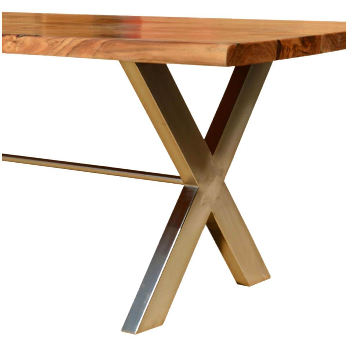 Industrial Cross Legs Solid Wood Live Edge Dining Table : 56073 from sierralivingconcepts.com size 1200 x 1200 jpeg 71kB