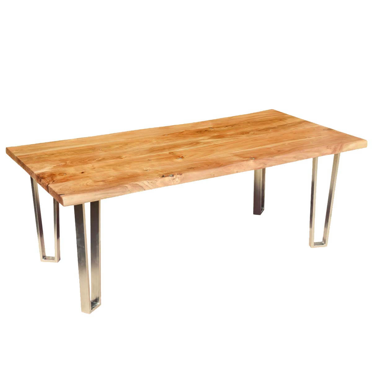 Solid Wood amp Iron Rustic Live Edge Dining Table : 56082 from sierralivingconcepts.com size 1200 x 1200 jpeg 67kB