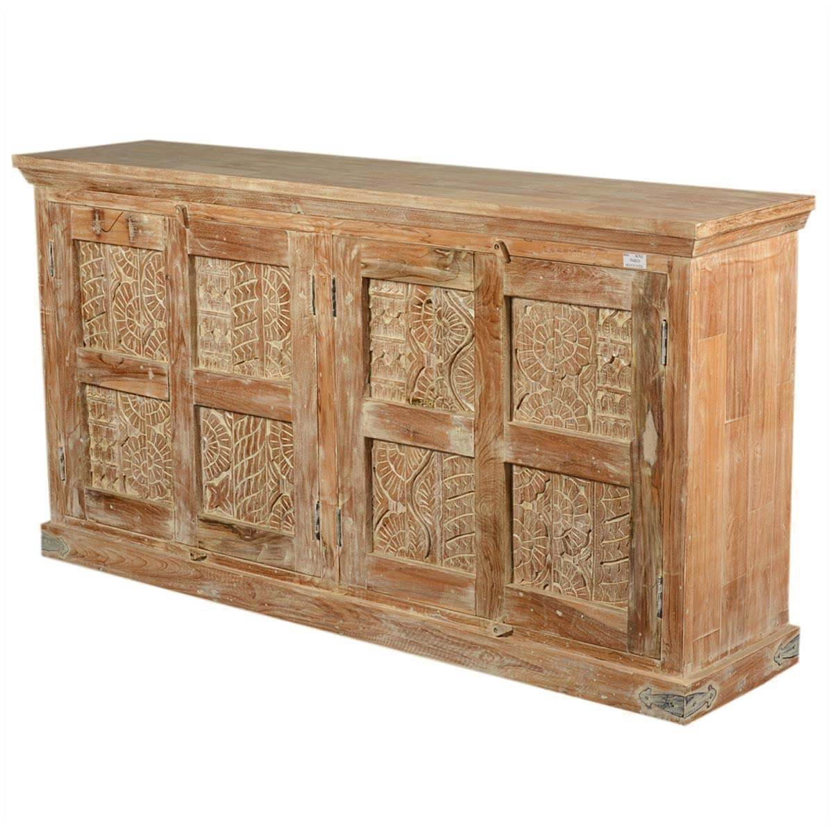 Quot reclaimed wood nottingham hand carved large buffet