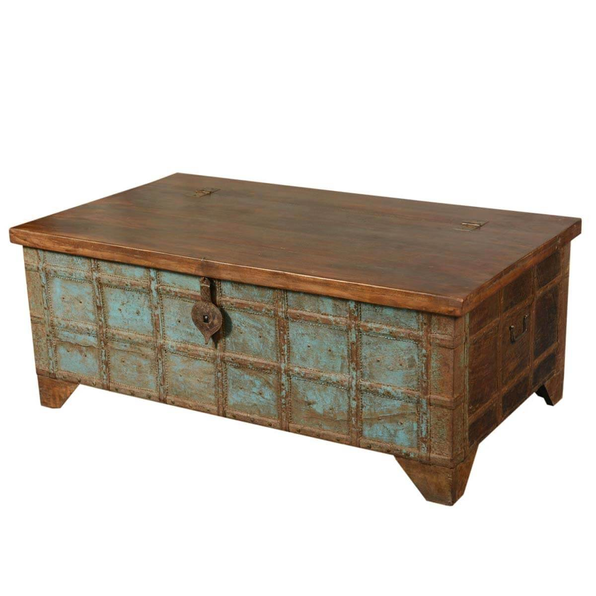 Captain 39 s stash reclaimed wood coffee table storage chest trunk Coffee table chest with storage