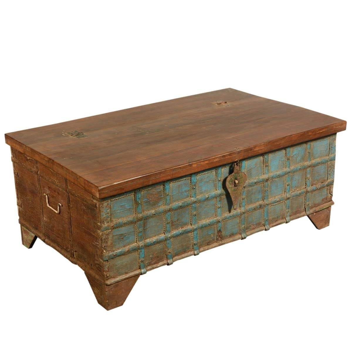 Blue Captain 39 S Stash Reclaimed Wood Coffee Table Storage Chest