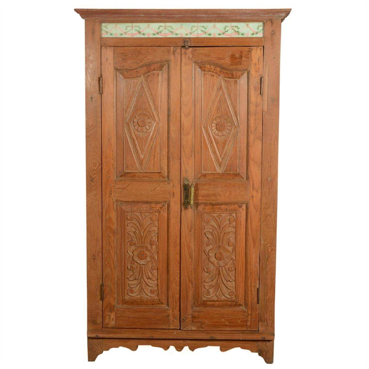 collection rustic reclaimed wood oklahoma hand carved bedroom armoire