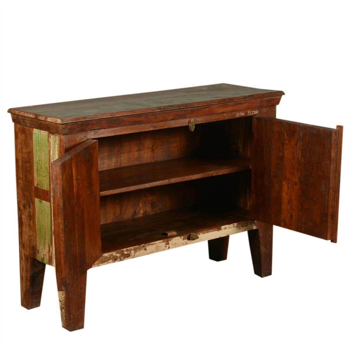 Antique Reclaimed Wood Sideboard Buffet Small Storage Cabinet