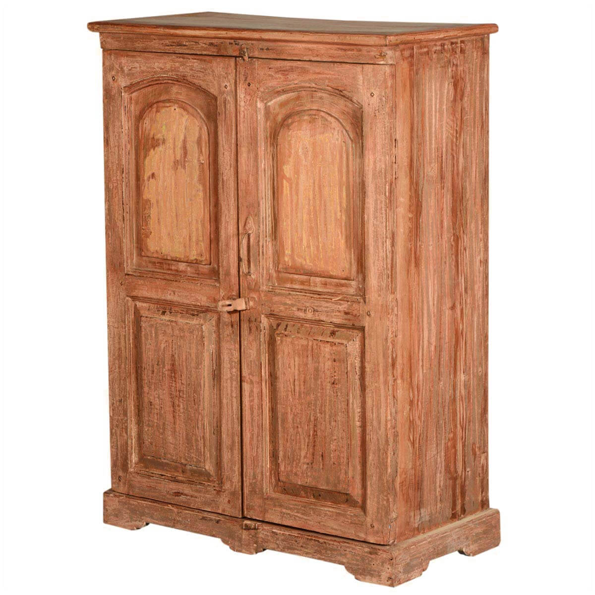 new orleans rustic reclaimed wood storage cabinet armoire. Black Bedroom Furniture Sets. Home Design Ideas