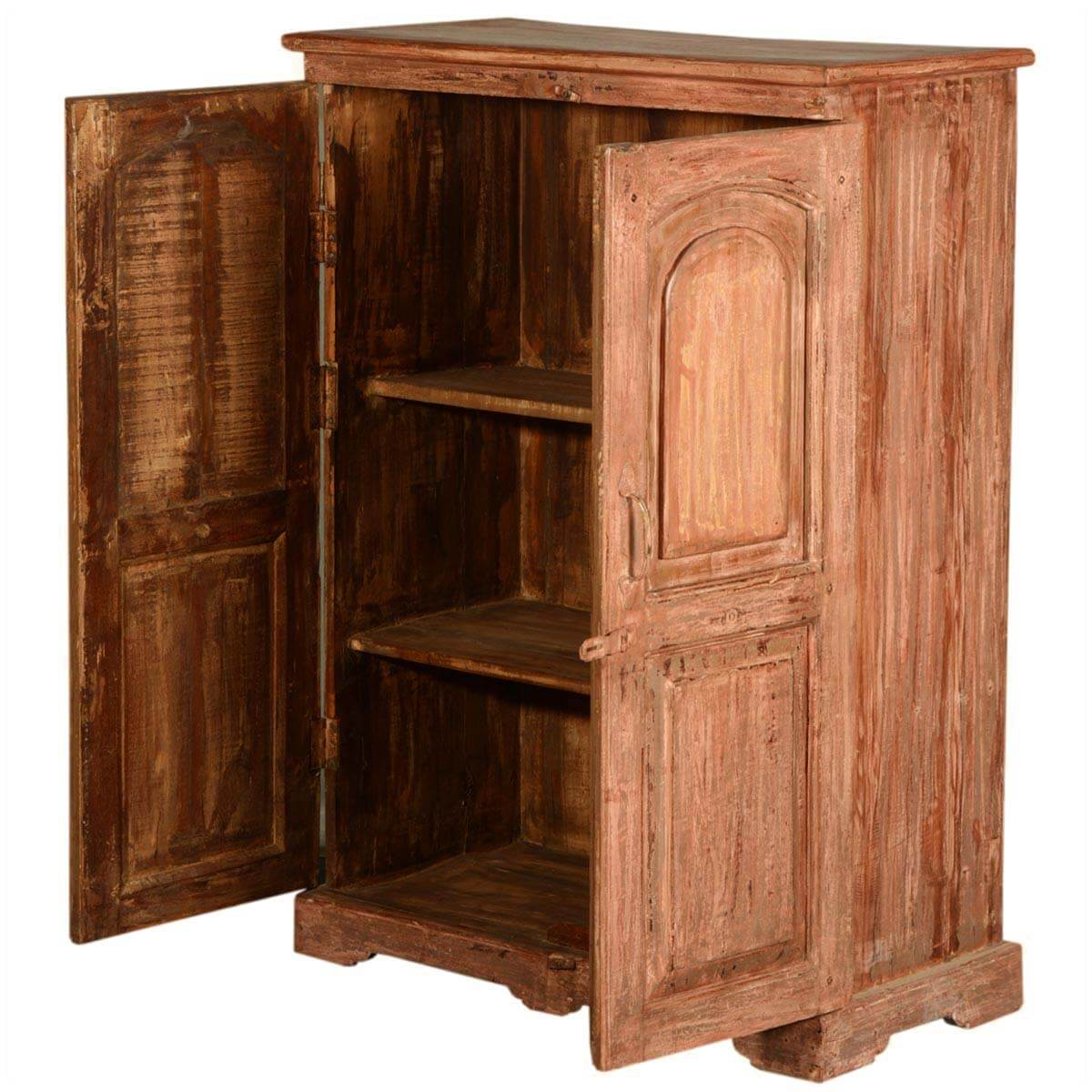 Wooden Storage Cabinets ~ New orleans rustic reclaimed wood storage cabinet armoire