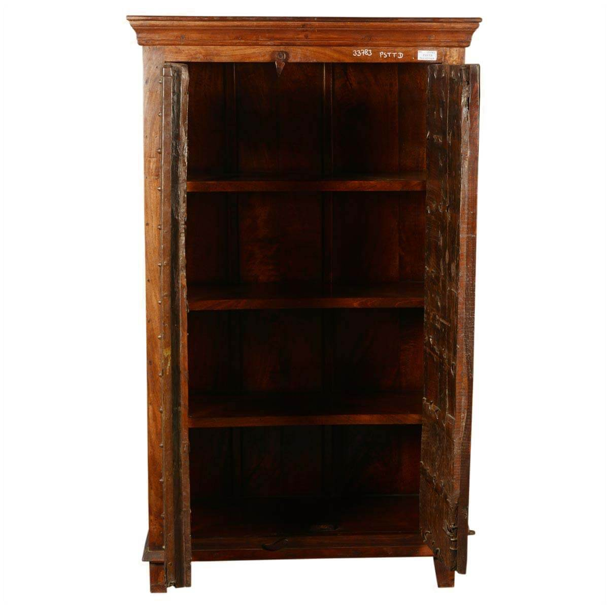 Collection Nottingham Rustic Reclaimed Wood Old Door Armoire Cabinet. Full resolution  img, nominally Width 1200 Height 1200 pixels, img with #1F0C03.