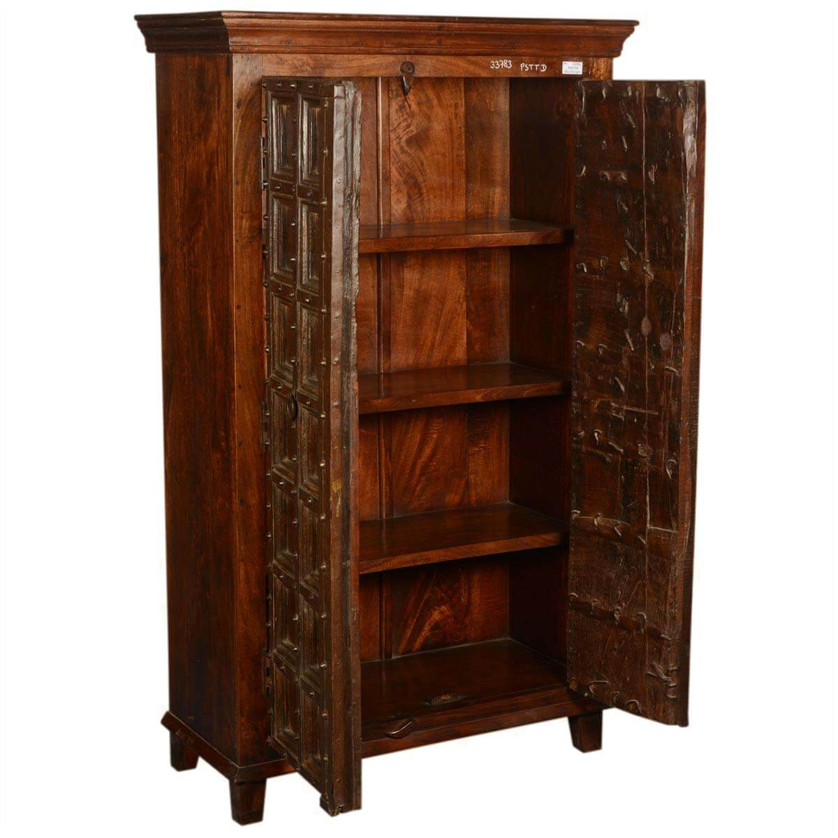 Collection Nottingham Rustic Reclaimed Wood Old Door Armoire Cabinet. Full resolution  img, nominally Width 1200 Height 1200 pixels, img with #B07A1B.
