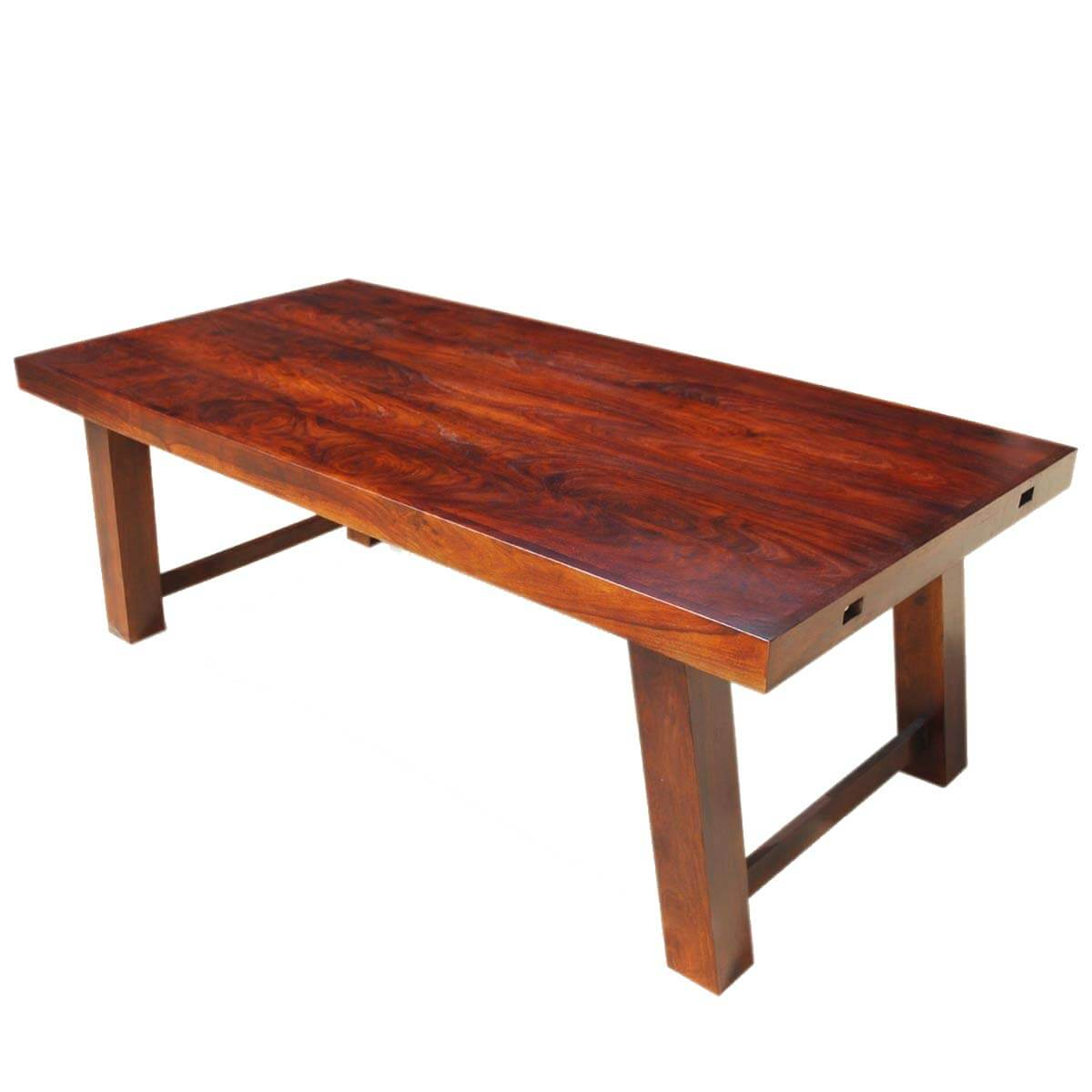 Sierra nevada rustic solid wood large extension dining table for Biggest dining table