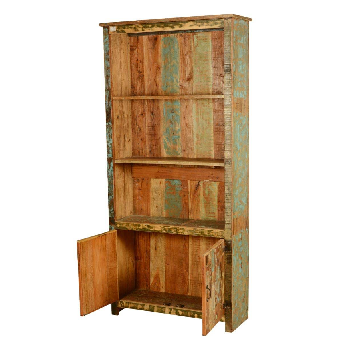 Recycled Wood Bookcase ~ Spring forest reclaimed wood quot tall open bookcase w
