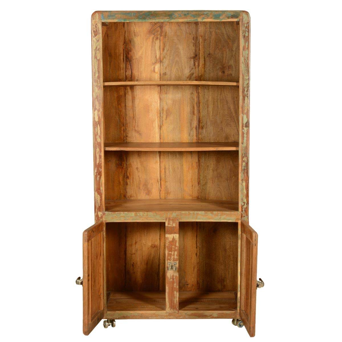 Reclaimed wood industrial style hand crafted shelf