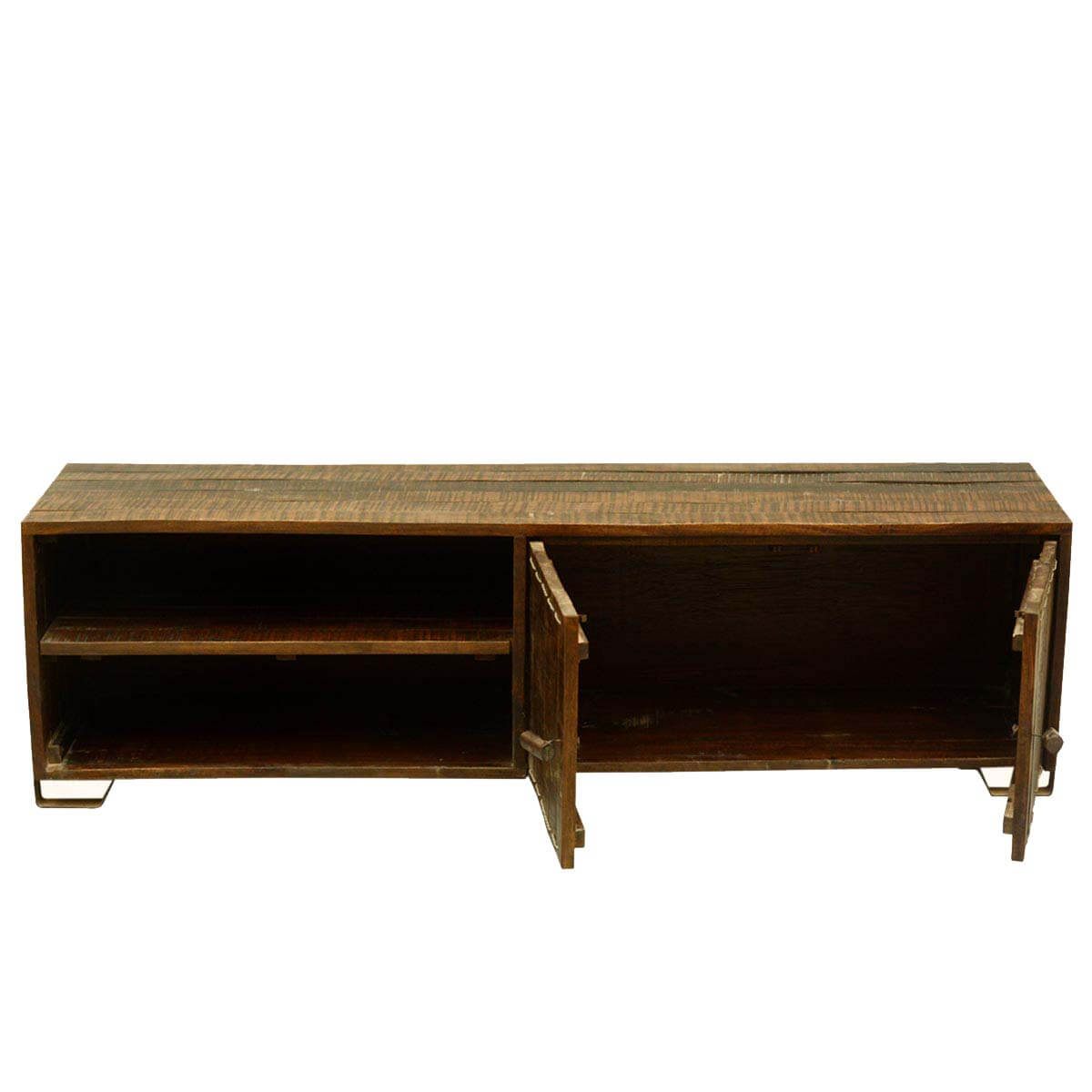 Modern Scholar Rustic Reclaimed Wood Entertainment Console