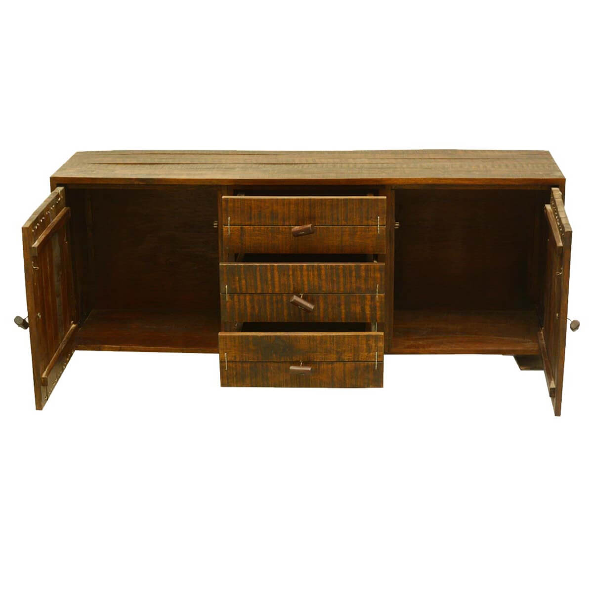 Wood Buffet Cabinet ~ Rustic reclaimed wood storage cabinet drawer sideboard
