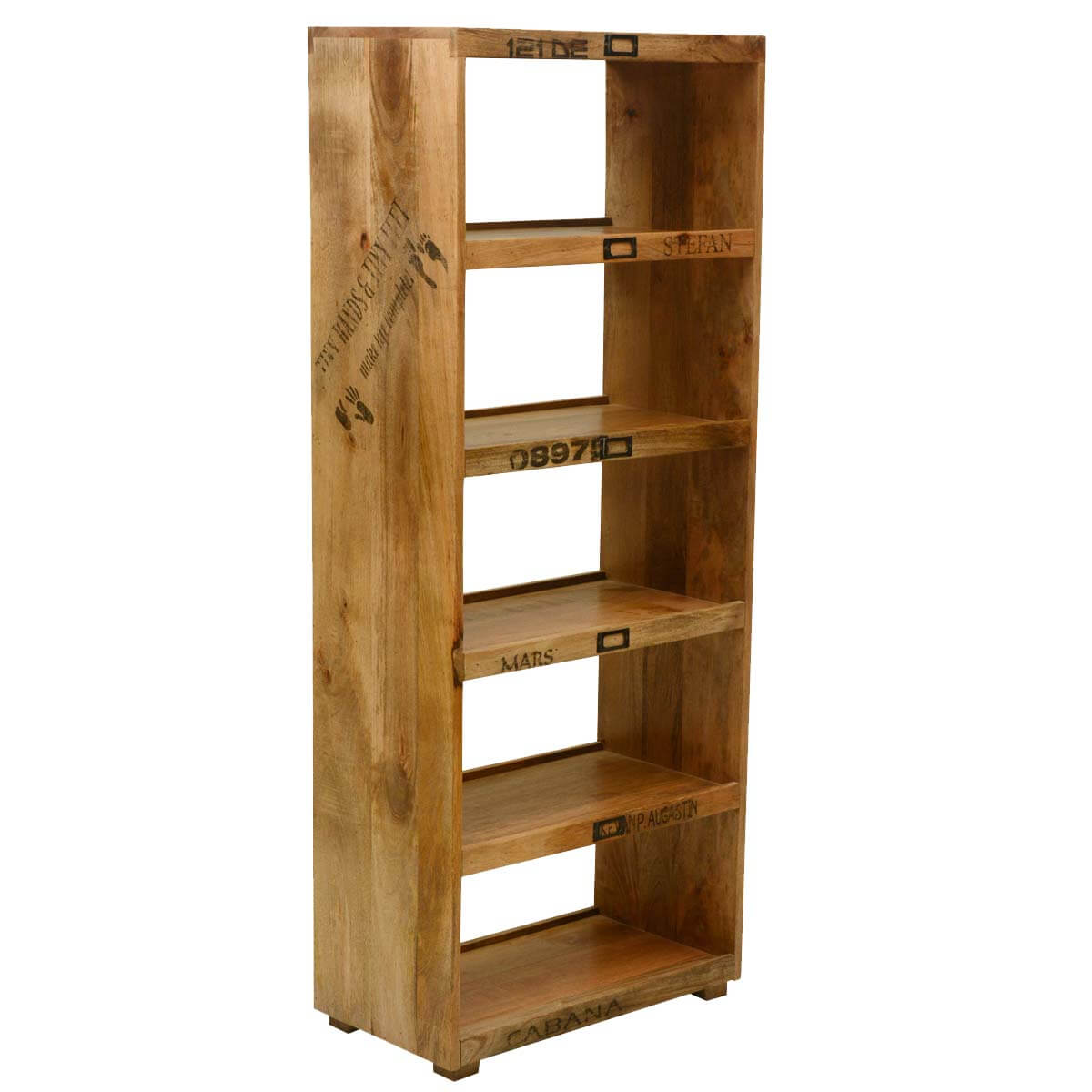 Home furniture by room living room bookcase tiny hands mango wood open