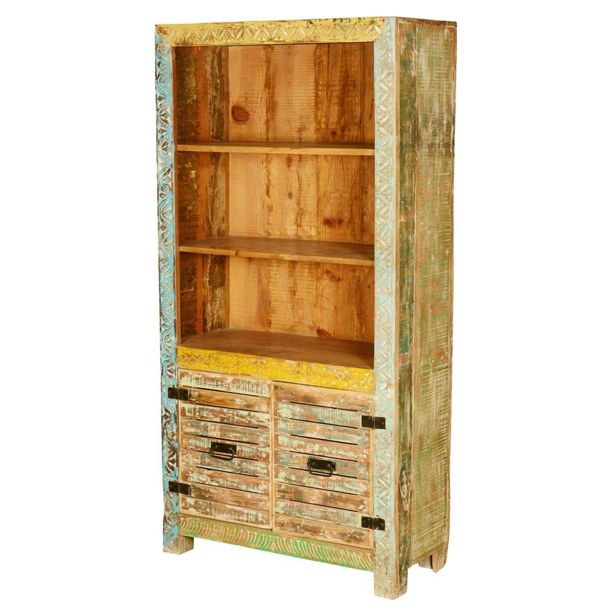 Castalia rustic reclaimed wood locker doors open display for Wood lockers with doors