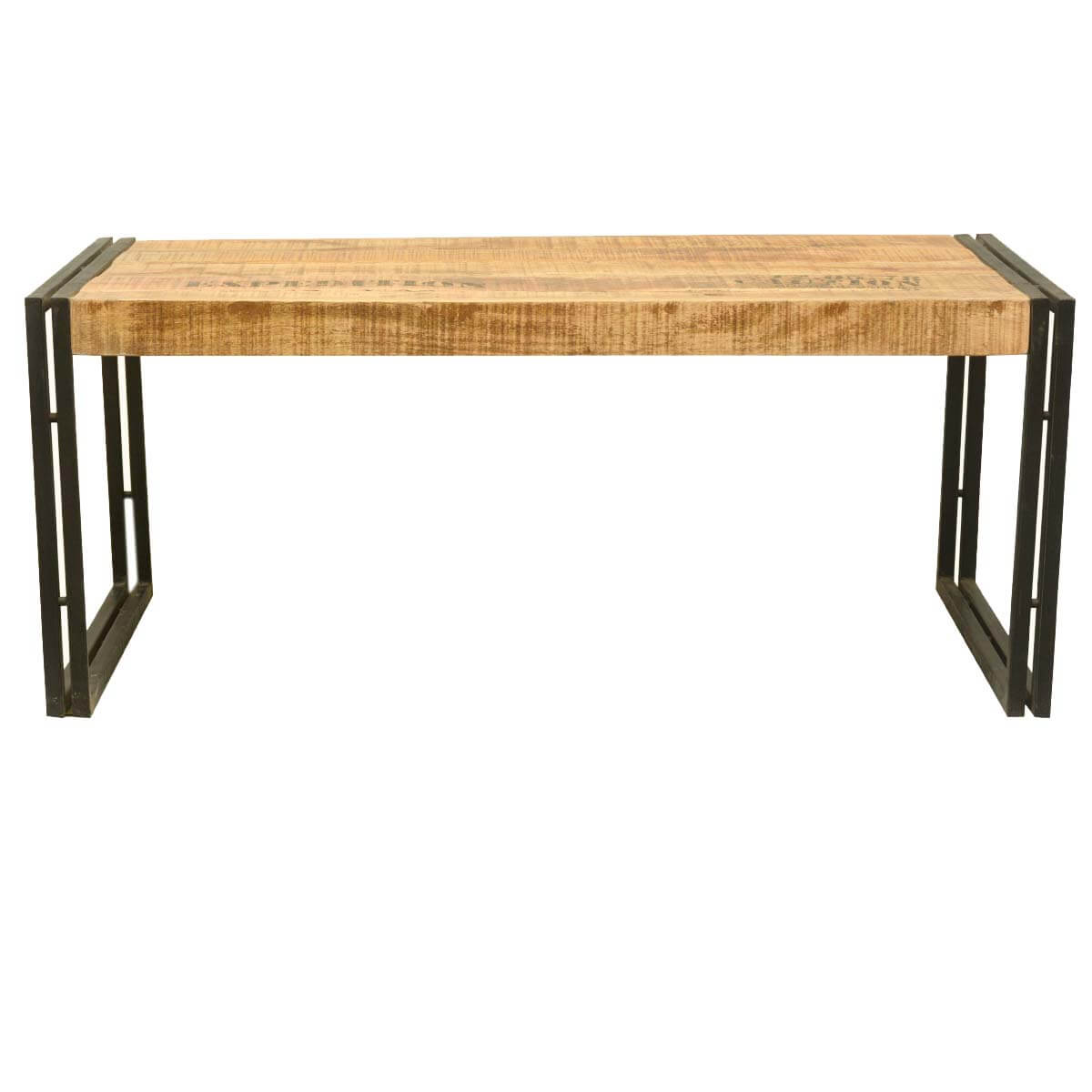 collection industrial double frame mango wood iron coffee table