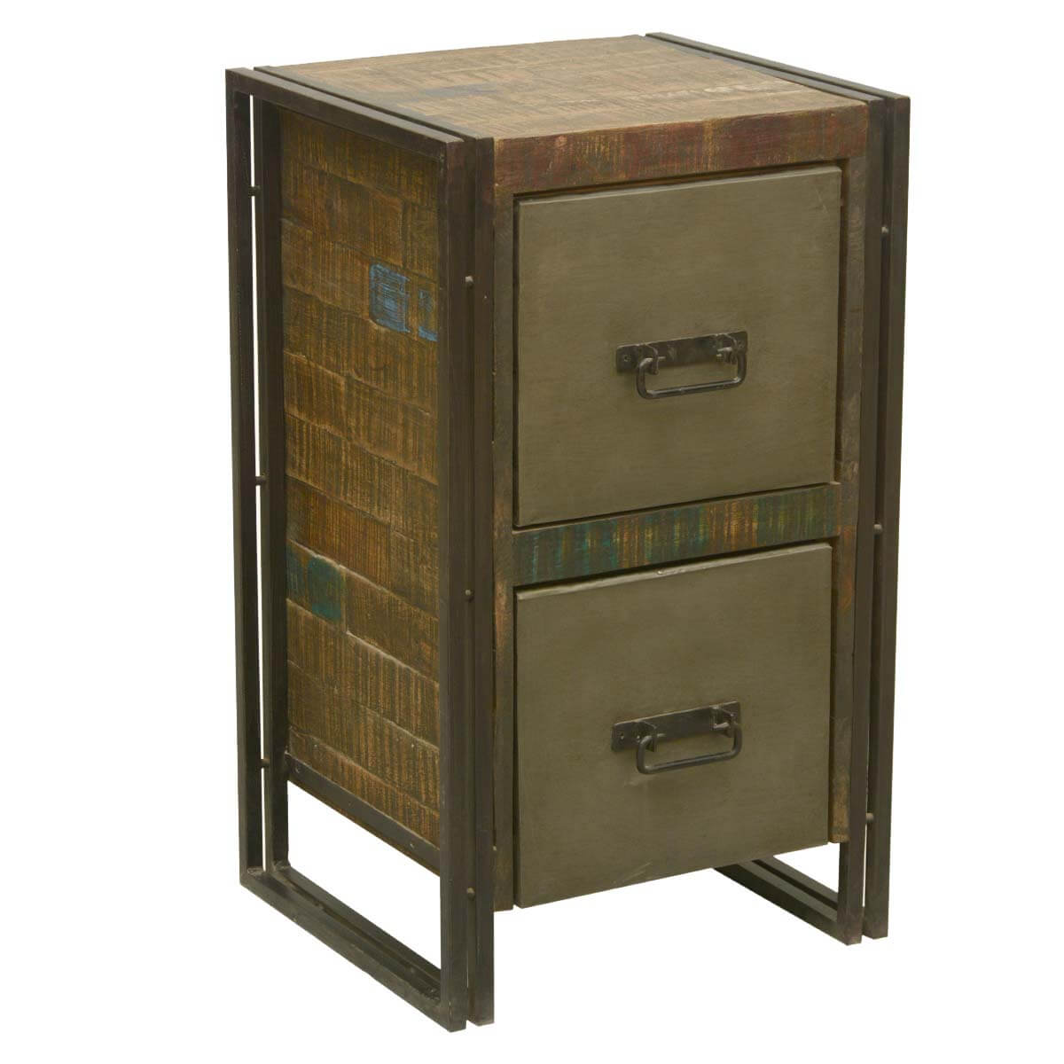 Home Furniture By Room Bed Room Night Stands Industrial Fusion . Full resolution  photograph, nominally Width 1200 Height 1200 pixels, photograph with #B27F19.