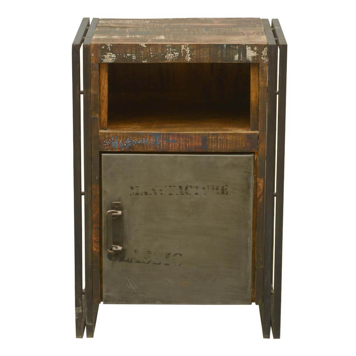 Industrial Fusion Reclaimed Wood amp Iron Nightstand Cabinet  : 57981 from sierralivingconcepts.com size 1200 x 1200 jpeg 95kB