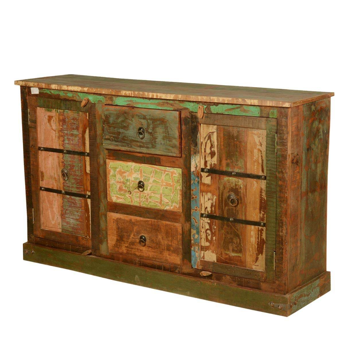 Autumn gothic reclaimed wood rustic sideboard buffet cabinet
